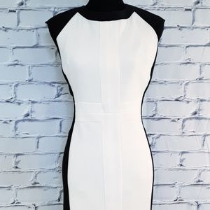 🆕 Worthington Sleeveless Dress Black White Sz 12